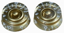 Retro Parts - Lp Speed Knobs 2Pk Gold