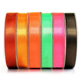 "3/8"" by 100 Yards Single Face Satin Ribbon, Black, Party Favors, Christmas Decorations"