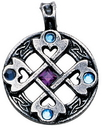 Celtic Cross Heart Pendant for True & Happy Friendship