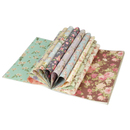 Aspire Flower Gift Wrapping Paper Book, 12 Designs on 24 Sheets