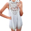 TopTie Women Hollow Out Sleeveless Tank Top Dress White Chemise Blouse Top
