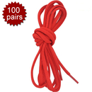 TopTie Half Round Shoelaces, Solid Color / 46 Inch, 100 Pairs