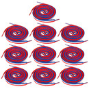 TopTie Patriot Style Red/White/Blue Stripe Shoelaces Wholesale, 45 Inch Long
