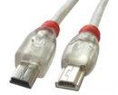 LINDY 31636 5m USB OTG Cable - Transparent, Type Mini-A to Mini-B