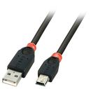 LINDY 31887 5m USB 2.0 Cable, Type A to mini B, Black