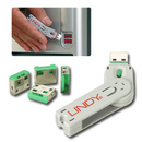 LINDY 40451 USB Port Blocker - Pack of 4, Color Code: Green
