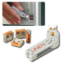 LINDY 40453 USB Port Blocker - Pack of 4, Color Code: Orange