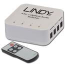 LINDY 70416 4 Way TosLink Digital Optical Audio Switch