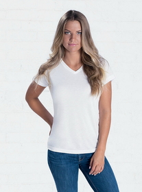 SubliVie 1507 Ladies V-Neck Polyester Tee, Price/each