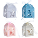 Aspire 50 Pcs / Pack Favor Boxes For Baby Shower Baby Carriage Laser Cut Boxes For Birthday Party
