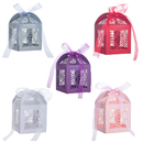Aspire 50 Pcs / Pack Hollow Out Paper Favor Boxes with Organza Ribbon Wholesale Wedding Favors