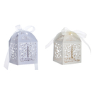 Aspire 50 Pcs / Pack Cross Favor Boxes Wholesale Laser Cut Candy Paper Box Wedding Party Accessories