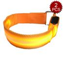 GOGO LED Light Reflective Armband Belt for Running Cycling Walking Set of 2
