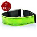 GOGO 2 Pcs LED Light Safety Reflective Armband Belt Breast Cancer Event