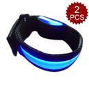 GOGO High Visibility LED Reflective Armbands Ankle Bands Wristbands Set of 2