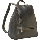 Le Donne Leather DS-030  U Zip Distressed Leather Mini Backpack