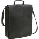 "Le Donne Leather LD-903  17"" Vertical Laptop Messenger Bag"
