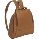Le Donne Leather LD-9112  U Zip Mid Size Womans Backpack