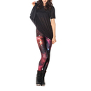 TopTie Galaxy Space Print Jumpsuit Leggings Tights Unitard Bodysuit Clubwear