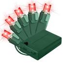 LEDgen BAT-50MMRE-4G - 5MM Chonical Battery Operated LED Red 50 count lights set