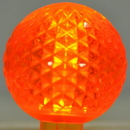 LEDgen G50-RETRO-OR - G50 Non-dimmable Orange Commercial Retrofit bulb with an E17 base and 5 Internal LED Chip
