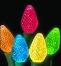 LEDgen S-25C75M-8G - 25 Count Standard Grade facitied C7 Multi Colored LED Light Set with in-line rectifer on Green Wire