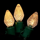 LEDgen S-25C7WW-8G - 25 Count Standard Grade facitied C7 Warm White LED Light Set with in-line rectifer on Green Wire