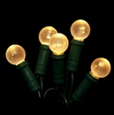 LEDgen S-70G12GO-4G - 70 Count Standard Grade G12 Facitied Gold LED Light Set with in-line rectifer on Green Wire