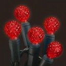 LEDgen S-70G12RE-4G - 70 Count Standard Grade G12 Facitied Red LED Light Set with in-line rectifer on Green Wire