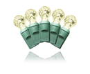 LEDgen S-70G12WW-4G - 70 Count Standard Grade G12 Facitied Warm White LED Light Set with in-line rectifer on Green Wire