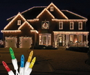 LEDgen S-ICM55M-IW - Standard Icicle M5 Multi Colored LED Light Set on White Wire