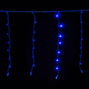 LEDgen S-ICMMBL-IW Standard Icicle 5MM BlueLED Light Set On White Wire