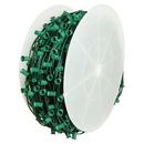 LEDgen WL-C9-12G - Cordset, C9, socketed cord set, E17 sockets, green wire, 1,000 feet, 12