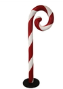 LEDgen WL-CNDYCN-SW-5B - 5' tall Swirled Candy Cane with Base to stand