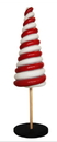 LEDgen WL-CNDYTR-7B 7' red and white candy cane tree with base, Life Size Holiday Figurines, North Pole Extras for Christmas