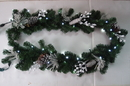 LEDgen WL-GARFL6-WC-PW 6' Long White Christmas Garland