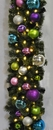 LEDgen WL-GARSQ-09-VIC-LWW 9' Pre-Lit Warm White LED Sequoia Garland Decorated With The Victorian Ornament Collection