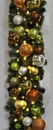 LEDgen WL-GARSQ-09-WOOD-LWW 9' Pre-Lit Warm White LED Sequoia Garland Decorated With The Woodland Ornament Collection