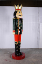 LEDgen WL-NUT-12 - 12 Ft Tall Fiberglass And Polyresin Nutcracker