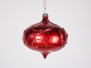 LEDgen WL-ONION-80-RE 3In Matte Red Onion Ornament With Red Glitter Accents