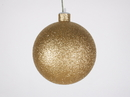 LEDgen WL-ORN-BLKG-100-GO-W 100MM Glitter Gold Ball Ornament W/Wire
