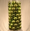 LEDgen WL-ORNTUBE-100-SG 50 Pack Of 100MM Plastic Sage Green Balls