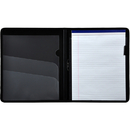 LION 97000-BK Plastic Padfolio with Pad, Letter - 1 Each - Black