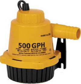 JohnsonPump 500GPH BILGE PUMP 22502 (Image for Reference), Price/Each