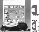 Taco VINYL RUB RAIL, BLACK 50' V11-3447BBK50-2 (Image for Reference)