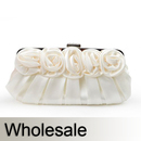 Toptie Rose Top Satin Wedding Clutch - Wholesale