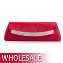 Toptie Rhinestone Decorated Satin Clutch - Wholesale