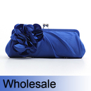 Toptie Flower Satin Evening Handbag - Wholesale