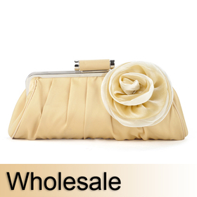 Toptie Big Size Satin Flower Clutch - Wholesale