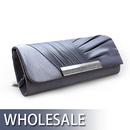 Toptie Pleated Satin Evening Bag Hand Case - Wholesale